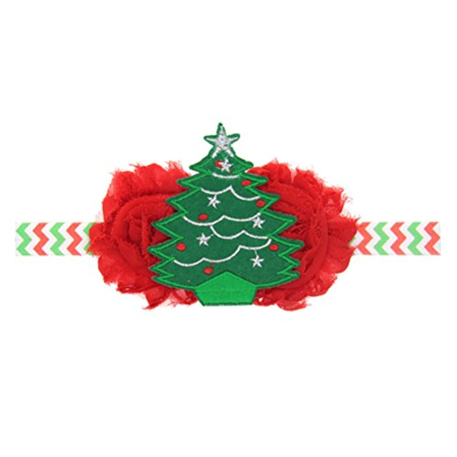 Zhhlaixing ベビー小物 Kids Baby Girls Soft Elastic Flowers Headband Hairband Hair Accessories for Christmas 5127