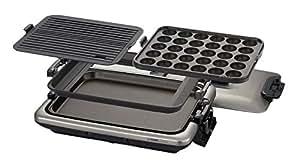 タイガー ホットプレート 「これ1台」 平面・たこ焼き・焼肉プレート付き CRV-B300-TH