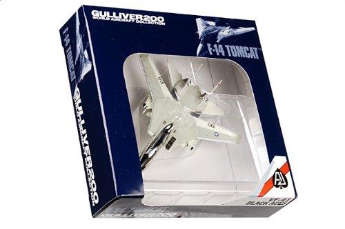 1:200 ガリバー World 飛行機 コレクション WA22058 Grumman F-14A トムキャット ダイキャスト モデル USN VF-41 黒 Aces AJ100 USS Nimit