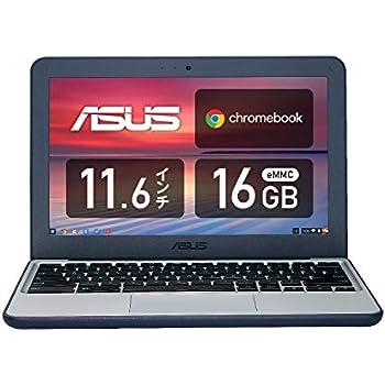 ASUS ノートパソコン Chromebook C202SA 11.6型WXGA液晶 タッチ機能なし 英語キーボード Celeron N3060 4GB eMMC 16GB 約10時間駆動 【日本正規代理店品】 C202SA-GJ0137 ダークブルー