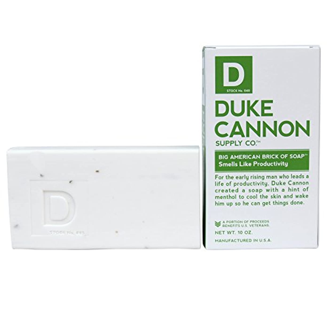 姿を消す限定トラックDuke Cannon Men's Bar Soap - 10oz. Big American Brick Of Soap - Smells Like Productivity by Duke Cannon