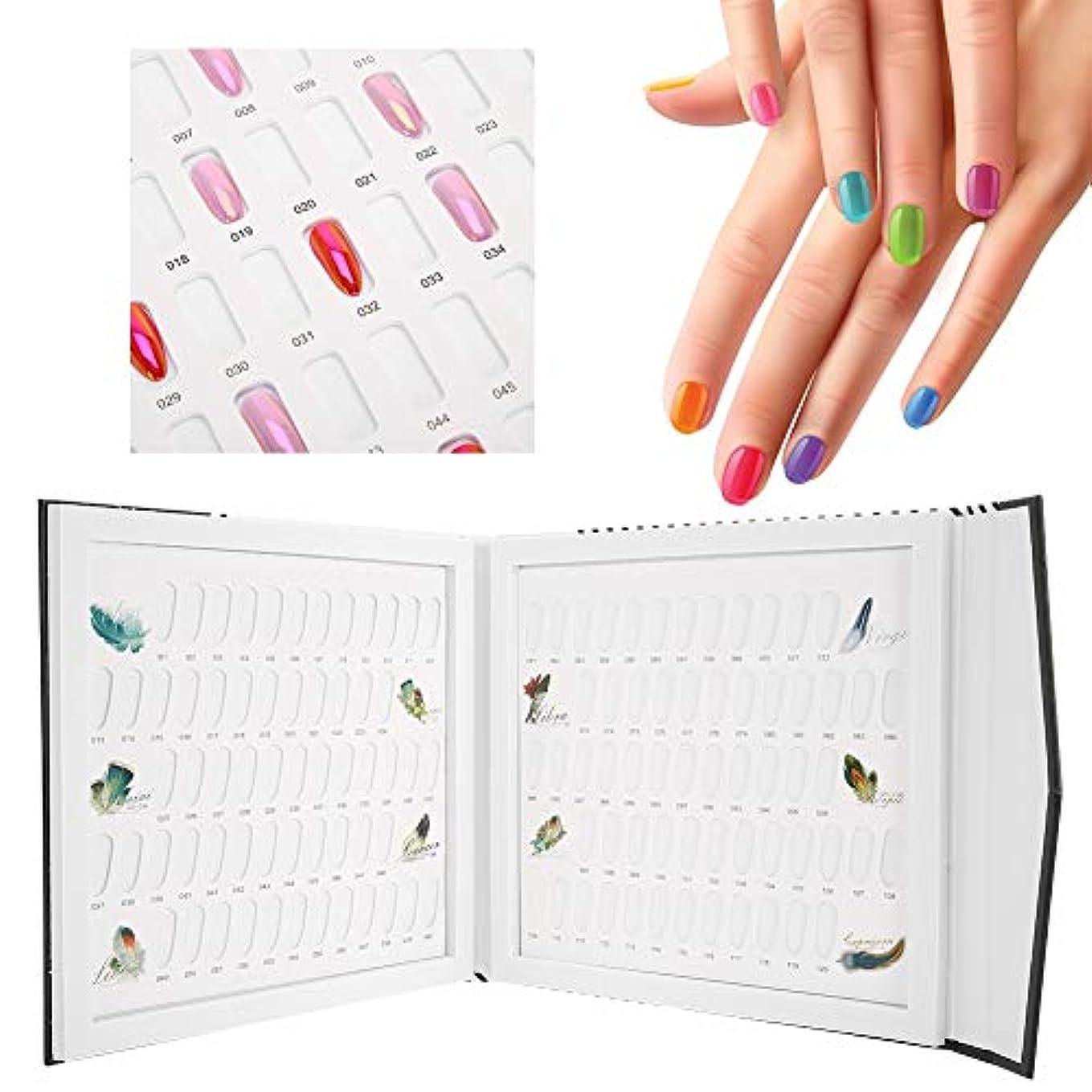 頼むうがい薬で出来ているネイルアートディスプレイスタンド 120色 ネイルジェルカラーカード ネイルポリッシュディスプレイチャート本ネイルアート表示棚(1)
