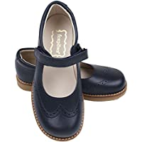 Foxpaws Jane Navy Blue Leather Girls School Shoes