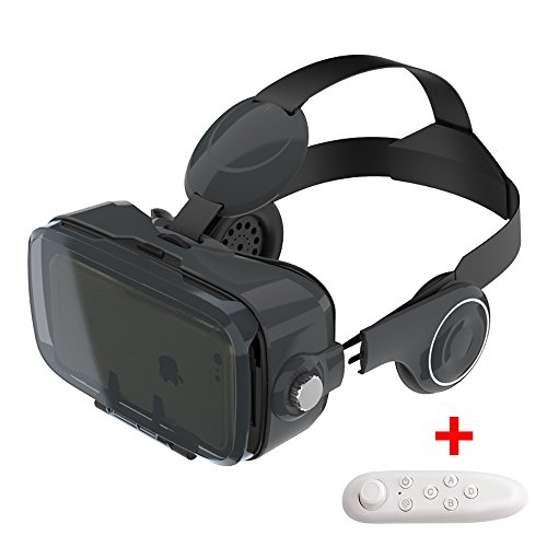 Bkayp VRゴーグル ヘッドセット FOV120° レンズ調整可能 音量・視覚調整 4.7-6インチiPhone6/6plus/7/7plus/Xperia/Galaxyなど対応 (ブラック)