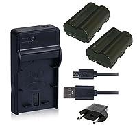 NinoLite 4点セット BP-511 / BP-511A 互換 バッテリー2個 +USB型 充電器 +海外用交換プラグ 、キャノン Canon 対応 dc19bp511x2_t.k.gai