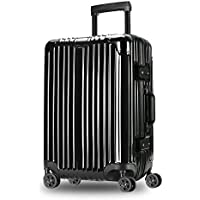 XY Trolley case - ABS+PC, TSA Customs Lock, Automatic Rebound Handle, Stylish Scratch-Resistant Brushed Hidden Hook Large Capacity Suitcase - 6 Colors, 2 Sizes Available Luggage Sets