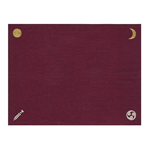 """【国産麻100% """"和""""のリーディングクロス】『日本の神様カード』リーディングマット(ボルドー)"""