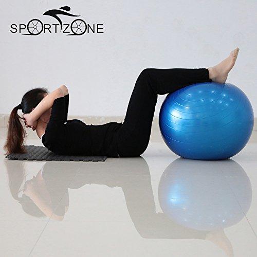 40CMピラティスヨガフィットネスボールエクササイズボールピーナッツエクササイズバランス体操パッド薄型ボディヨガボール