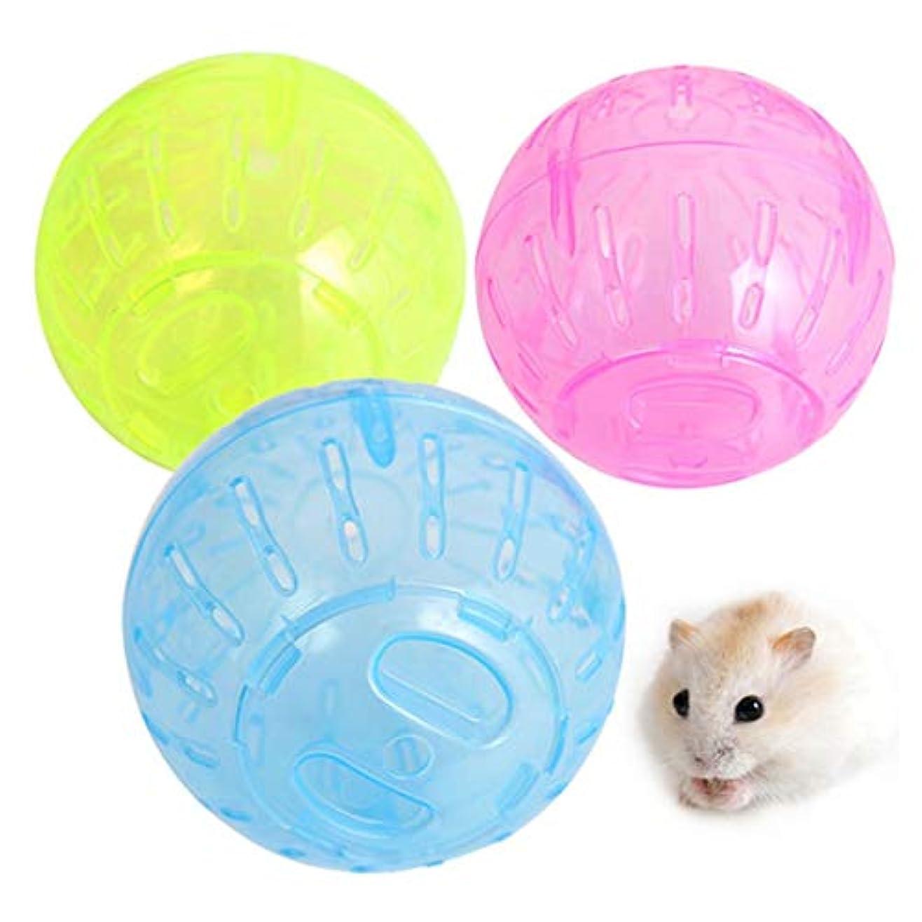 手数料マント生むペット用品 ペット小玩具ハムスター·ランニング·ボール、ランダム·カラー·デリバリー、サイズ:直径:10cm ペットのおもちゃ