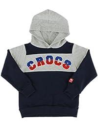 (クロックス) crocs キッズトレーナー フード パーカー 110-160cm 長袖 ガールズ ボーイズ 147-192 NV