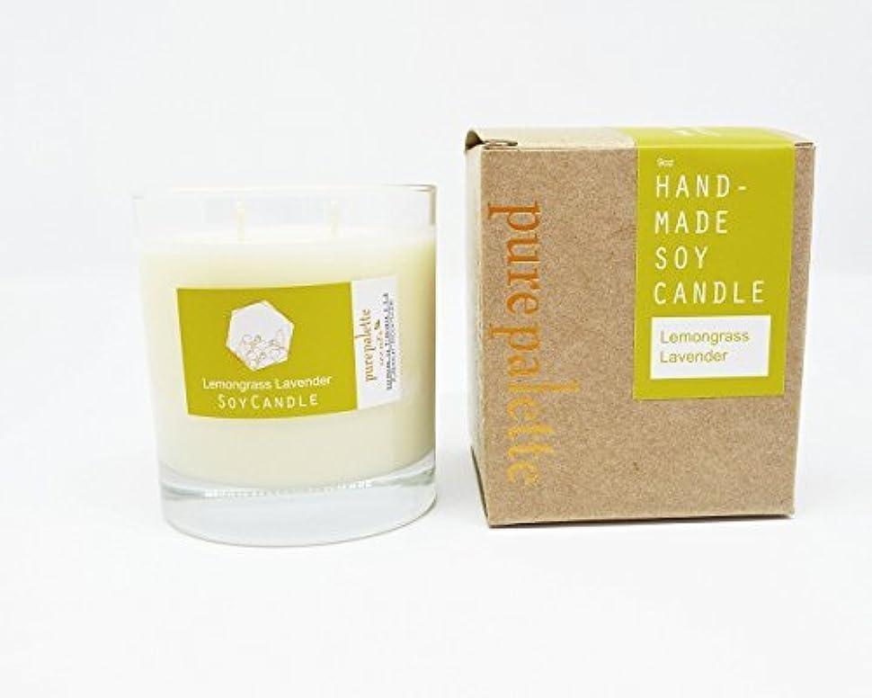 真実もっと湿ったPure Palette Scents - Lemongrass Lavender Scented Soy Candle 50 Hours Burn Time in Glass Jar Aromatherapy Stress...