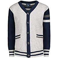Andy & Evan Boys 45117B Varsity Cardigan with Pockets Cardigan Sweater