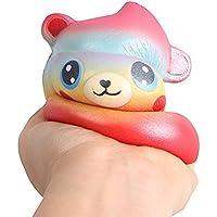 OVERMALトイカートゥーンベアPoo香りつきSlow Rising Squeezeおもちゃコレクション応力Reliever Toy ゴールド
