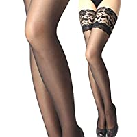 Zhensun Lace Sexy Thigh High Stockings Hosiery Party Socks for Women