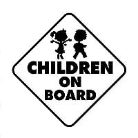 Ansyny 10.2センチメートル* 10.2センチメートル子供オンボードかわいい女の子と男の子の車のステッカーデカールビニール3ピース