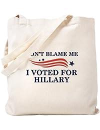 CafePress – I Voted For Hillary – ナチュラルキャンバストートバッグ、布ショッピングバッグ S ベージュ 2018790510DECC2