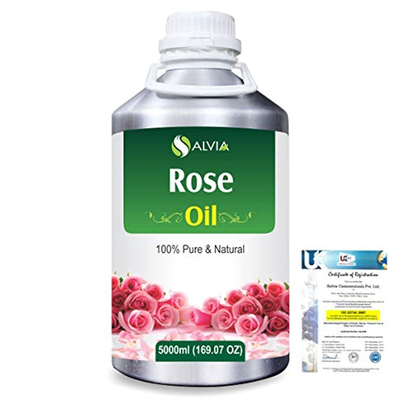 カセット何十人もアセンブリRose (Rosa Damacenia) 100% Natural Pure Essential Oil 5000ml/169fl.oz.