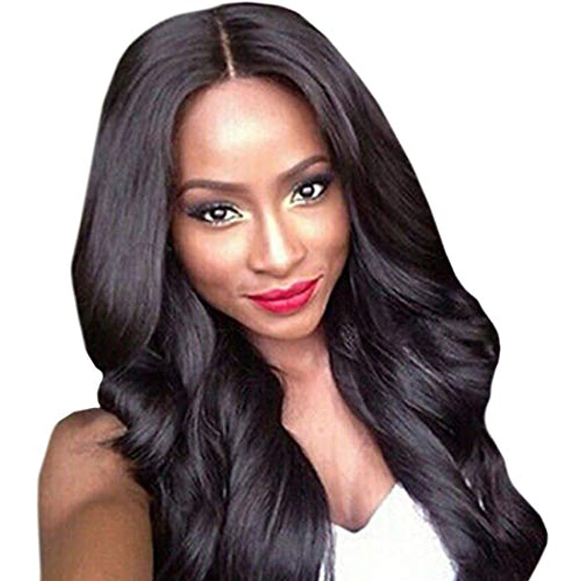 皮肉な工夫する工夫するKerwinner 前髪と高温シルクの長い巻き毛女性のための人工毛