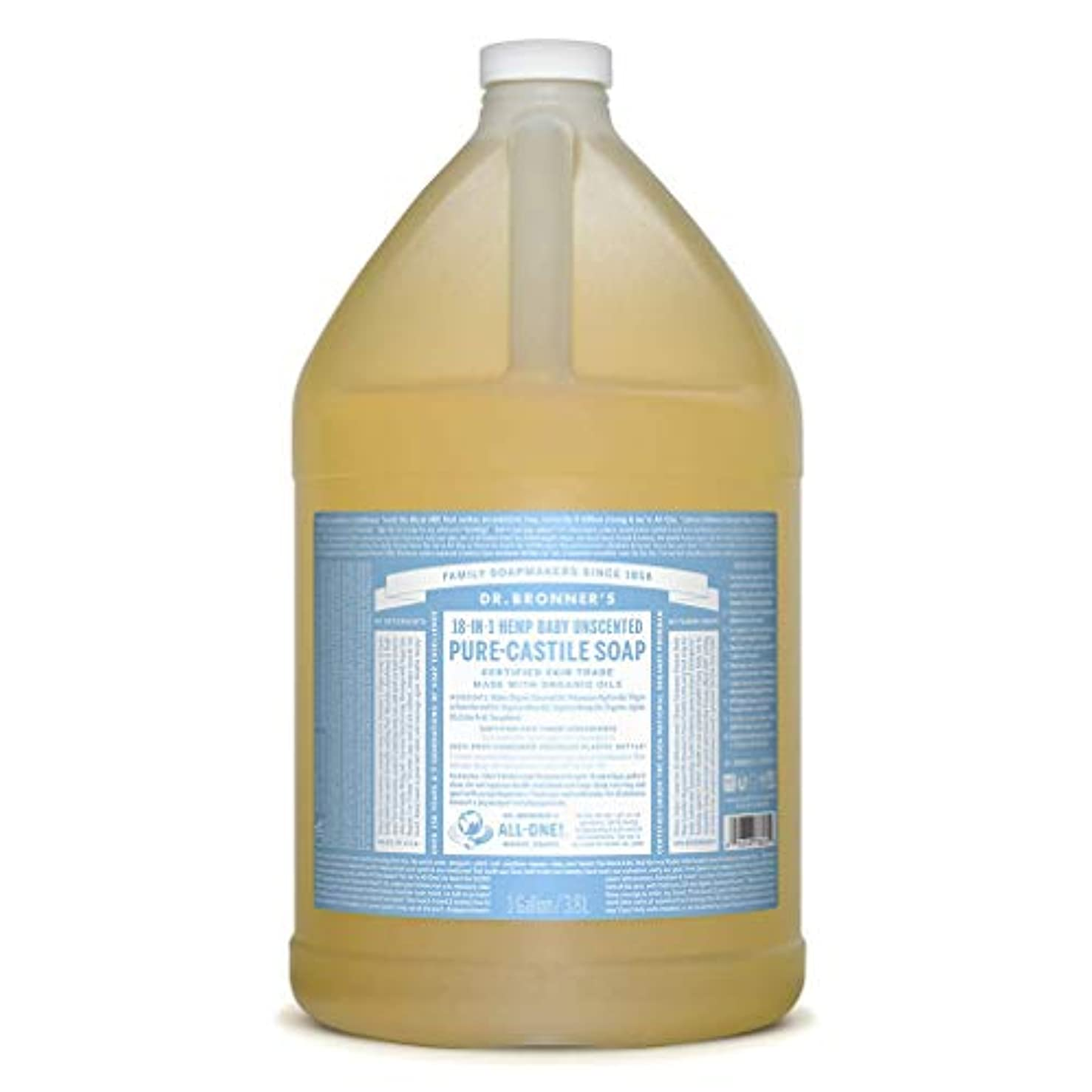 やめる空虚浸食ドクターブロナー マジックソープ液体 ベビーマイルド 3785ml