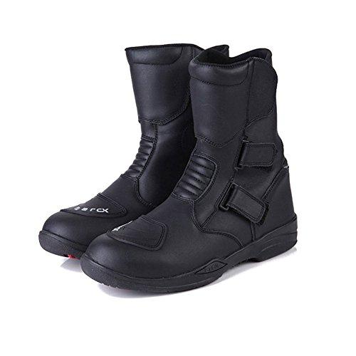 バイクブーツ オートバイ カジュアル靴 レーシングブーツ 長靴 オフロードブーツ ユニセックス 防水 滑り止め ブラック メンズ大人用