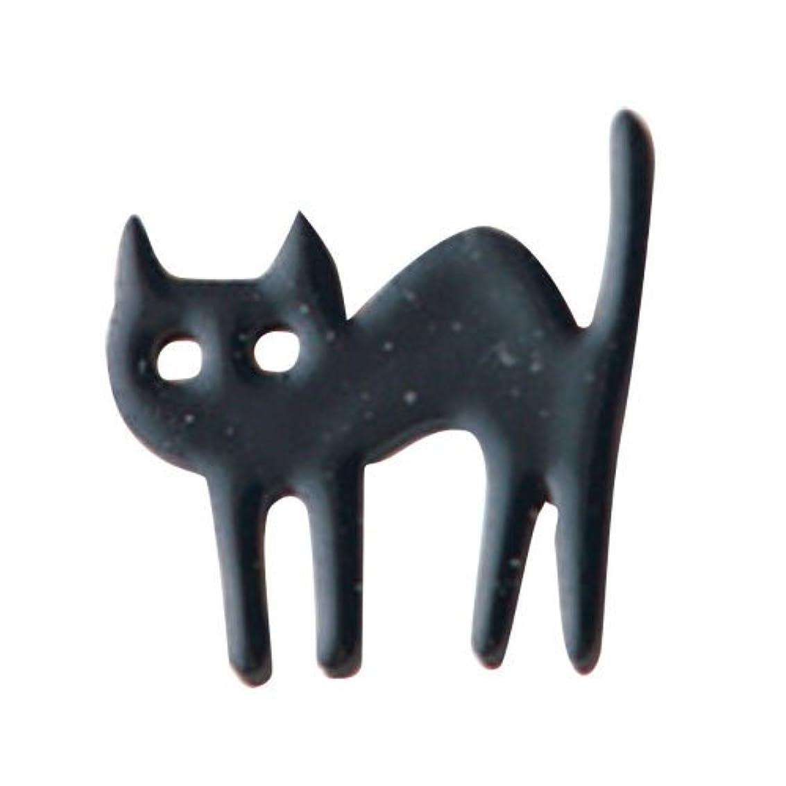 修理可能失望ユーザーリトルプリティー ネイルアートパーツ 猫 クロ 10個