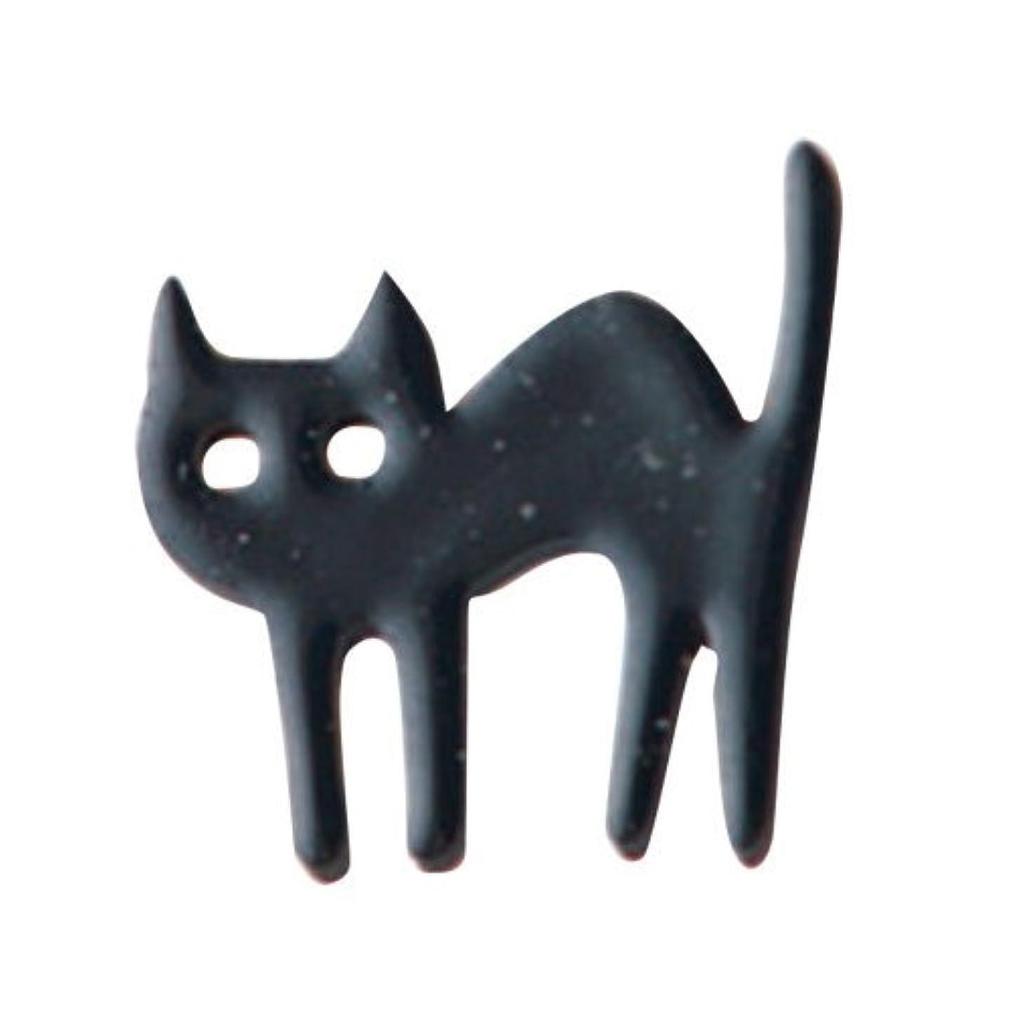 スクリュー評価する要求するリトルプリティー ネイルアートパーツ 猫 クロ 10個