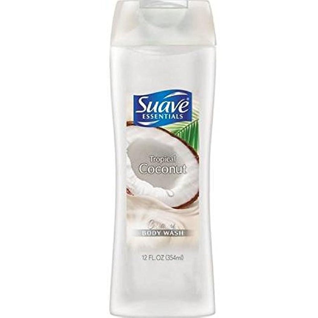 しょっぱいペルー珍しいSuave Naturals Body Wash - Tropical Coconut - 12 oz - 2 pk by Suave [並行輸入品]