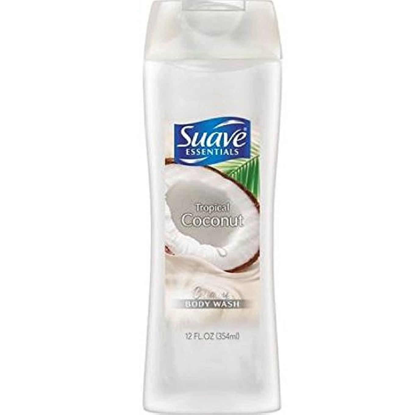 リンス用心深い生命体Suave Naturals Body Wash - Tropical Coconut - 12 oz - 2 pk by Suave [並行輸入品]