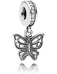 PANDORA Pendant Charms Sterling Silver Butterfly