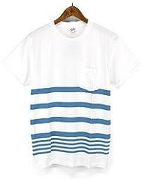 ベルバシーン(VELVA SHEEN)Tシャツ 161571 COLLEGE BORDER ボーダー クルーネックポケットTシャツ ポケット付きクルーネックTシャツ