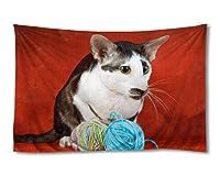 かわいい猫 (#088) - ホーム インテリア 壁の装飾 タペストリー 190x130cm