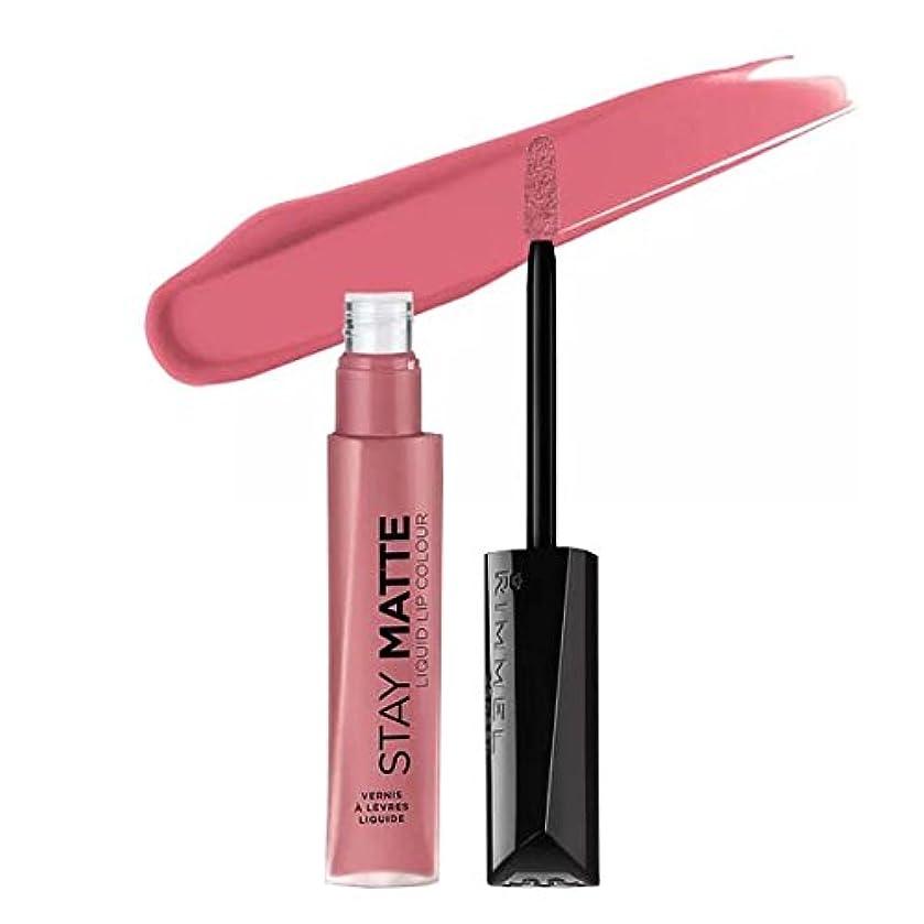 ブラシダイバー首(6 Pack) RIMMEL LONDON Stay Matte Liquid Lip Color - Blush (並行輸入品)
