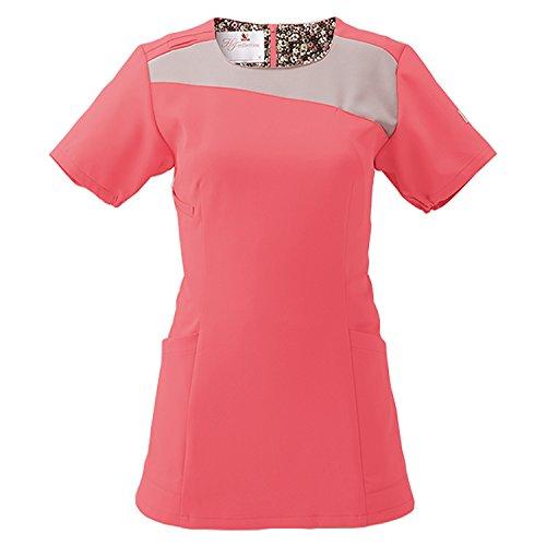 (FOLK) フォーク ワコール レディススクラブ 女性用 診察衣 白衣 (HI702) リリスピンクXオークル L