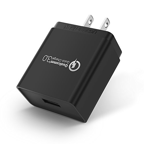 UGREEN Quick Charge 3.0 充電器 QC3.0対応 USB ACアダプタ 18W 急速充電 Xperia XZ Premium,Galaxy S8,HTC U11,LG等Android各種、Type C機器,iPhone X,iPhone 8 plus,iPad等Apple各種にも対応
