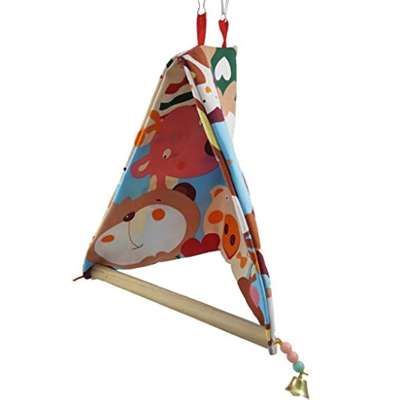 ブランデー湿地精神的に玩具スイングオウムオカメインコラブバードケージのために鳥ハット?ハウスベッドスタンドパーチを温めます