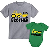 Tstars Big Brother Little Brother Shirts Tractor Loving Boys Siblings Set