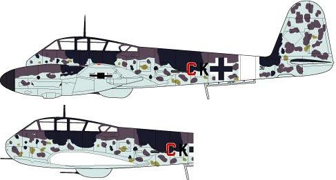 1/72 WWII ドイツ空軍駆逐機 メッサーシュミット Me410 B-1/U2/R4 「ツェアシュテーラ」