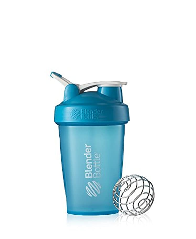 トリムポンド進化するBlender Bottle Classic Loop Top Shaker Bottle, 20-Ounce, Aqua/Aqua