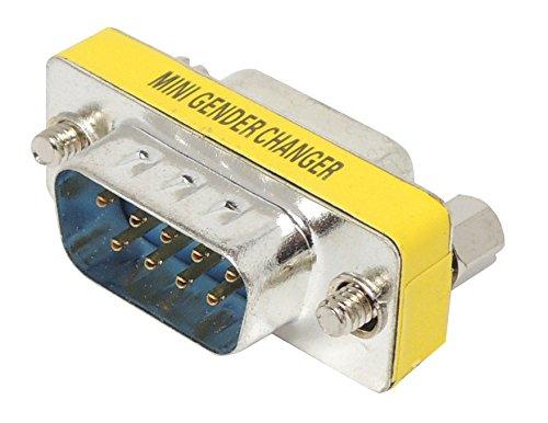 DB9オス - DB9メス 小型コネクター (MINI GENDER CHANGER)