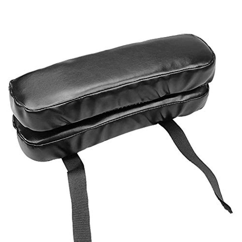 疼痛差別する専制Lamdoo puレザーチェアアームレストパッドクッション低反発ソフト反発肘肘枕オフィス車の椅子