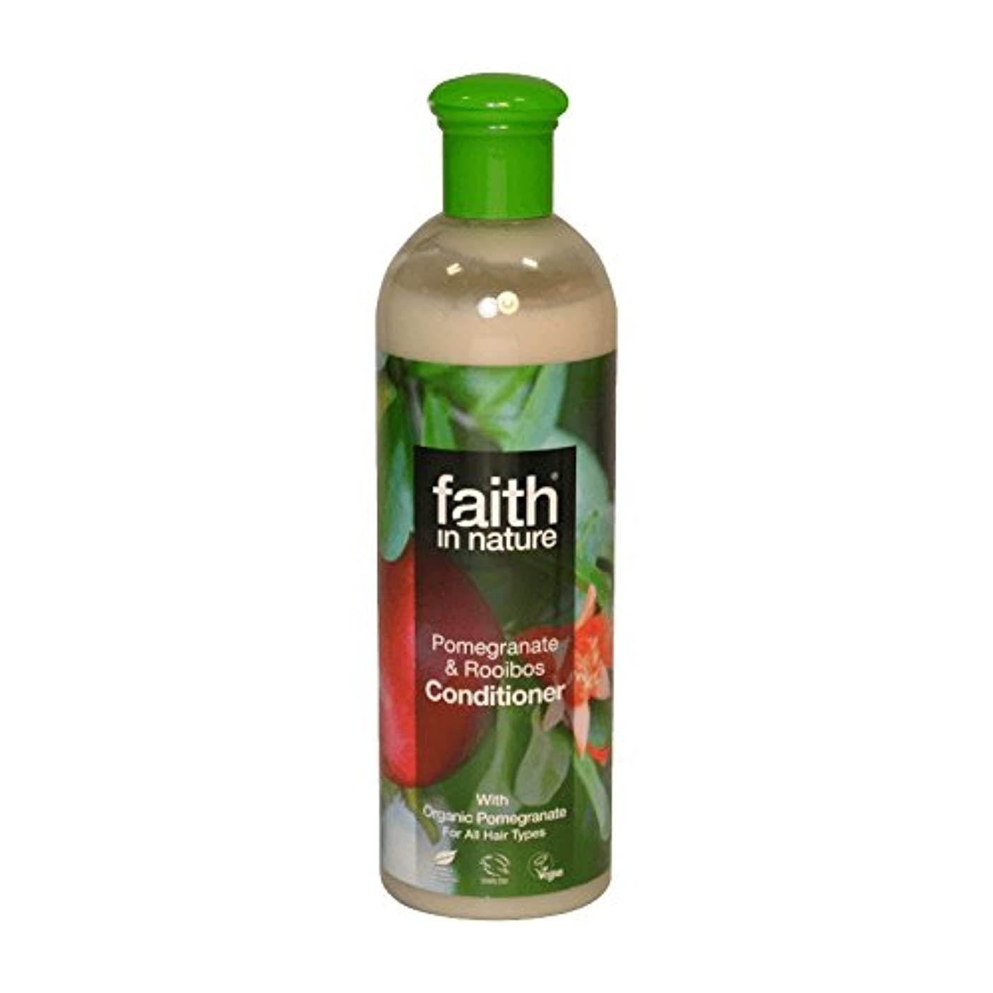 補正ためらうパークFaith in Nature Pomegranate & Roobios Conditioner 400ml (Pack of 2) - 自然ザクロ&Roobiosコンディショナー400ミリリットルの信仰 (x2) [...