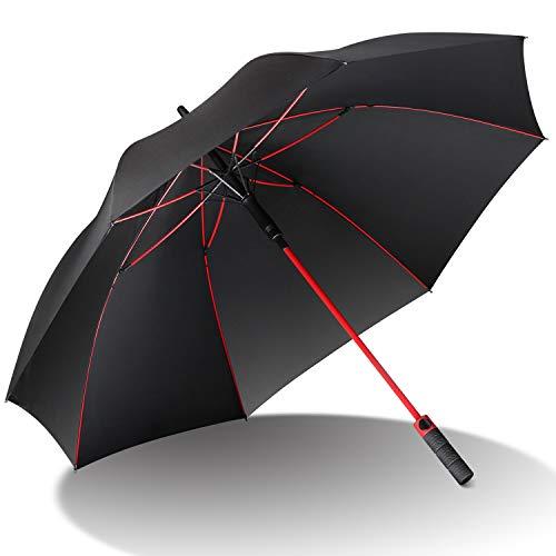 【2019昇級版】傘 AISITIN 長傘 傘 メンズ 紳士傘 耐風 撥水 自動開け 大きい傘 メンズ 雨傘 ジャンプ傘 超高強度 グラスファイバー材質 ゲリラ豪雨対応 ステッキ傘 傘 梅雨対策 濡れない 収納ケース付き