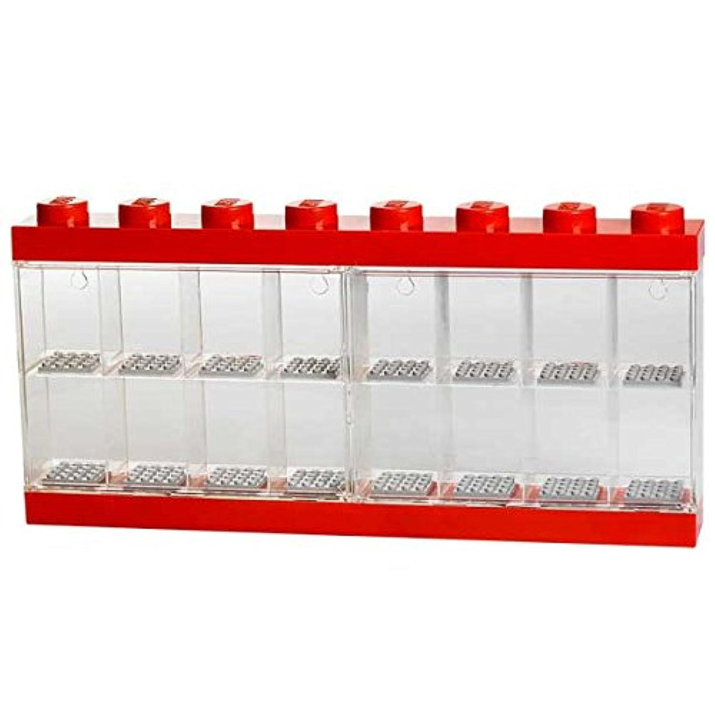 レゴ ミニフィギュア ミニフィグ コレクション ディスプレイ ケース ディスプレイケース 16個用 (レッド) 国内正規品