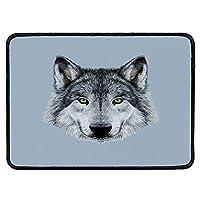 オオカミ リストバンド マウスパッド 満月 夜空 成長 オオカミ 神秘的な生き物 森 ハロウィン 家庭 デスク コンピューター デスク用 幅7.87インチ x 長さ9.45インチ x 高さ0.08インチ 9.84''Wx11.81''Lx0.12''H