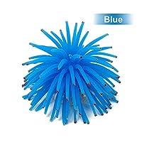 ACHICOO オーナメント ミニ 人工ウニ球 水族館 水槽 飾り 青
