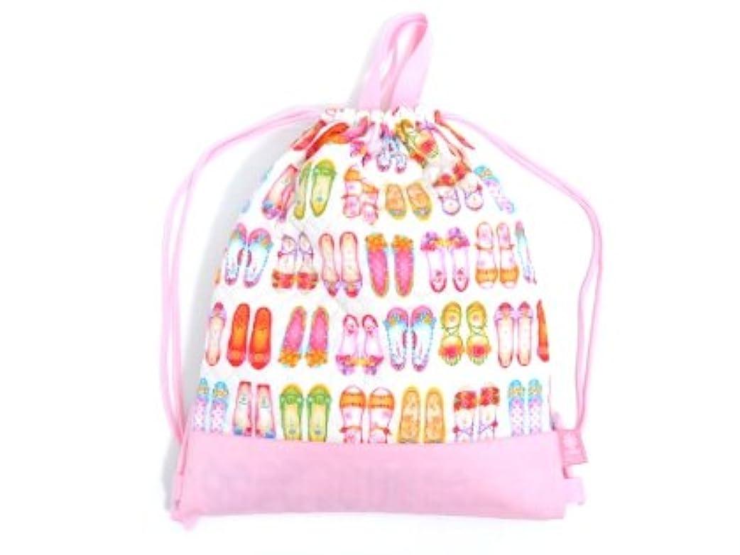 おそらく意味する議論するナップサック 巾着 バッグ 足元キラリのガールズシューズ(ホワイト) N0432600