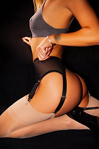 sofsy Ladies sexy garter belt mesh garter / stockings strap and with a clip (not included in the stockings)