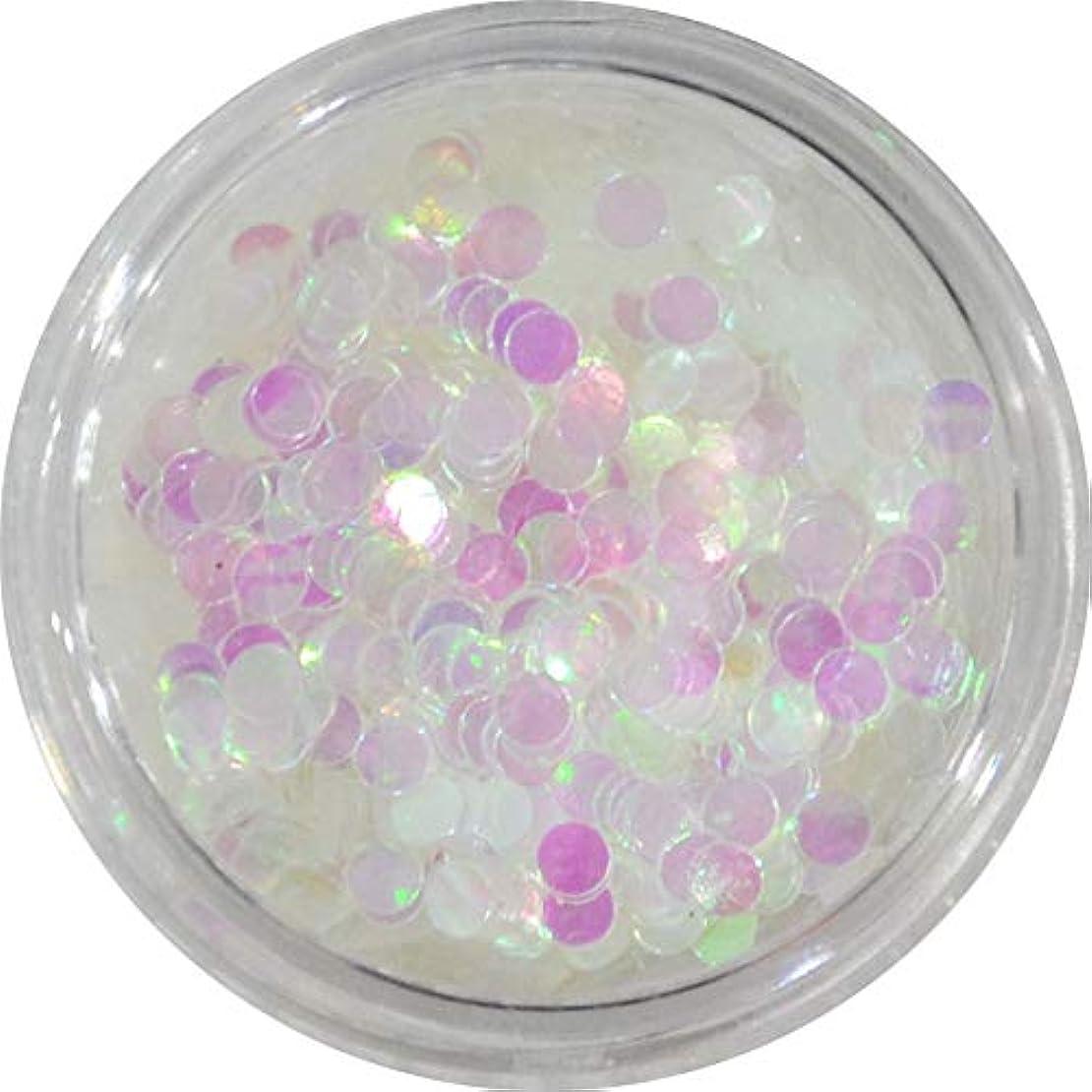 外出お客様検出器丸ホロ 水玉模様 ドット柄 など色々使える便利な 丸いホログラム 円形 丸型 ラウンド ホログラム (クリアホワイトオーロラ2mm)