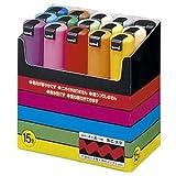 (まとめ) 三菱鉛筆 水性マーカー ポスカ 太字角芯 15色(各色1本) PC8K15C 1パック 〔×2セット〕