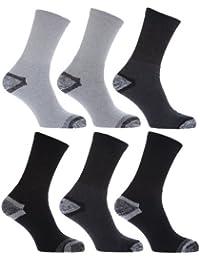 メンズコットンリッチ建設現場仕事作業用 ソックス靴下(6足組)男性用